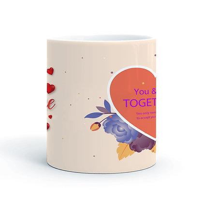 Love Printed Ceramic Coffee Mug 325 ml
