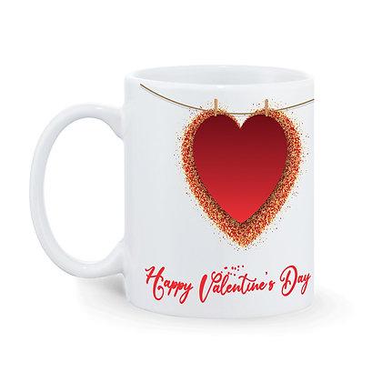 Happy Valentine's Day Ceramic Coffee Mug 325 ml