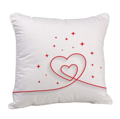 Heart Satin Cushion Pillow with Filler