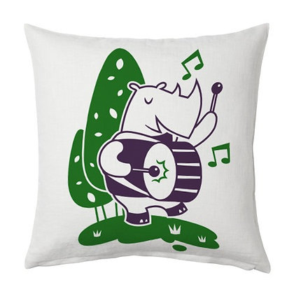 Collins Cartoon Printed Poly Satin Cushions Pillow Cover with