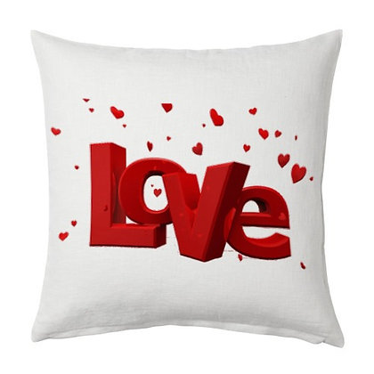 Love Printed Poly Satin Cushions Pillow Cover with
