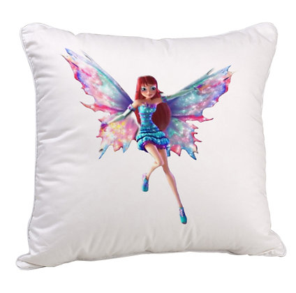 Beautiful Angel Printed Poly Satin Cushion Pillow with Filler