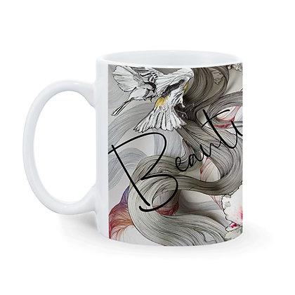 Beauty  Printed Ceramic Coffee Mug 325 ml