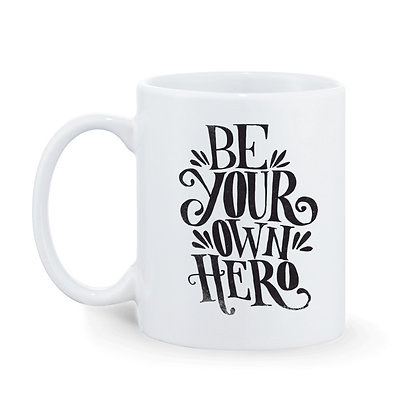 Be Your Own Hero Ceramic Coffee Mug 325 ml