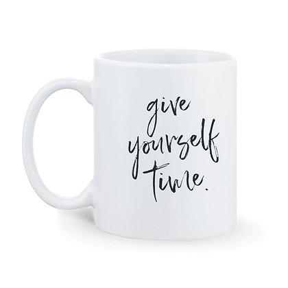 Give Yourself Time Printed Ceramic Coffee Mug 325 ml