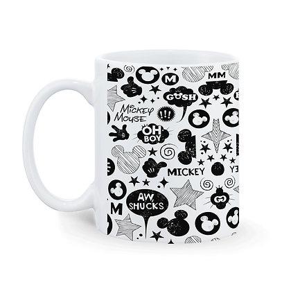 Mickey - Oh Boy Pattern Ceramic Coffee Mug 325ml