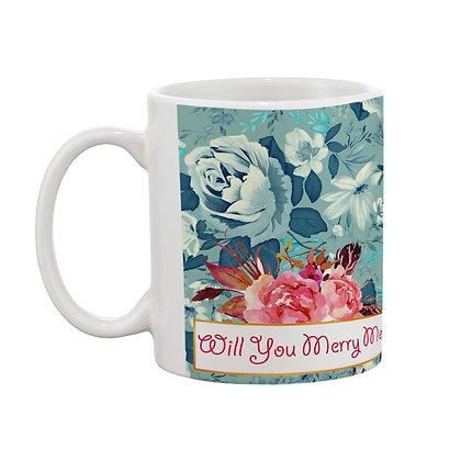 Will You Merry me Printed Ceramic Coffee Mug 325 ml