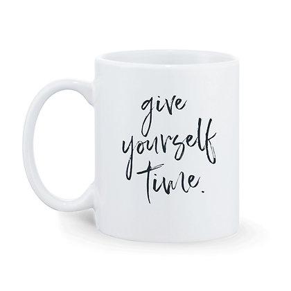Give Yourself Time Ceramic Coffee Mug 325 ml