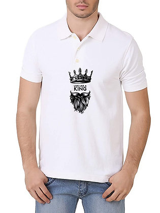 Live Like A King Printed Regular Fit Polo Men's T-shirt