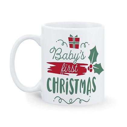 Baby's First Christmas Printed Ceramic Coffee Mug 325 ml