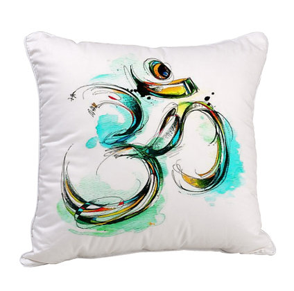 Om Satin Cushion Pillow with Filler