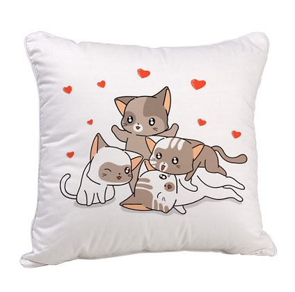 Best Friends Puppies Satin Cushion Pillow with Filler