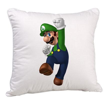 Cartoon Mario Satin Cushion Pillow with Filler