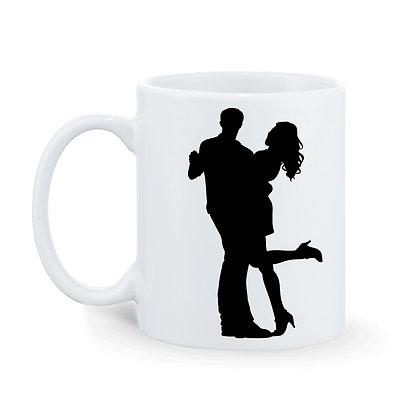 Happy Mind Happy Life Printed Ceramic Coffee Mug 325 ml