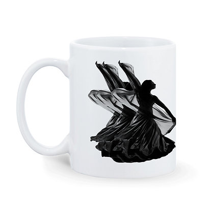 Dance Printed Ceramic Coffee Mug 325 ml
