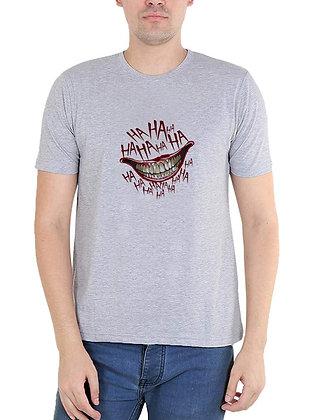 Jokar HAHAHAHA Printed Regular Fit Round Men's T-shirt