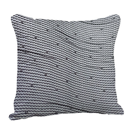 Abstract Line Satin Cushion Pillow with Filler