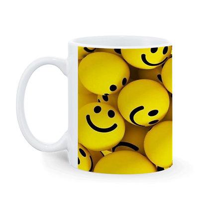 Smile Ball Pattern Ceramic Coffee Mug 325 ml