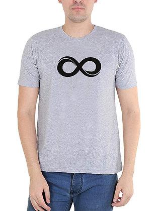 Infinity Printed Regular Fit Round Men's T-shirt