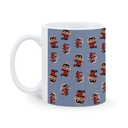 Cartoon Baby Dash Theme Pattern Ceramic Coffee Mug 325 ml