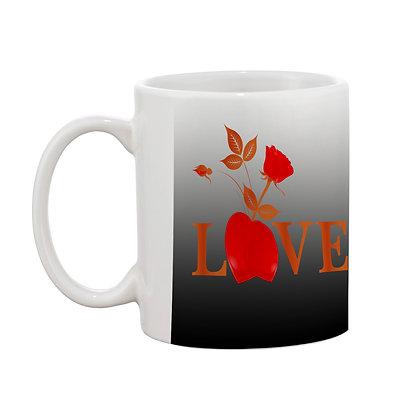 Love U Printed Ceramic Coffee Mug 325 ml