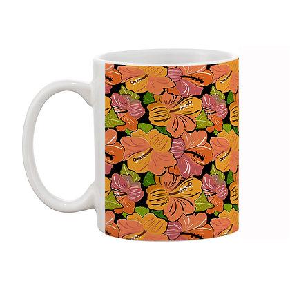 Lily Flower Light Color Theme Pattern Ceramic Coffee Mug 325 ml