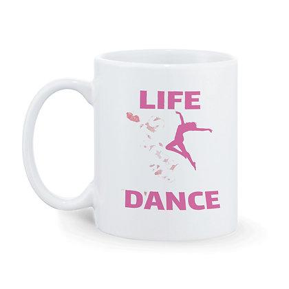 Life Dance Printed Ceramic Coffee Mug 325 ml