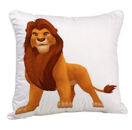 Cartoon Sera Lion Satin Cushion Pillow with Filler