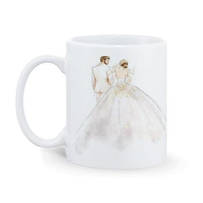 Wedding Couple Ceramic Coffee Mug 325 ml