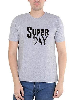 Super Day Printed Regular Fit Round Men's T-shirt