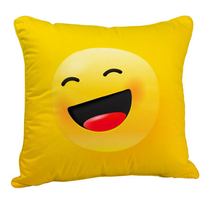 Rolling on the Floor Laughing EMOJI Satin Cushion Pillow Cover with Filler