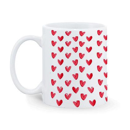 Love Pattern Ceramic Coffee Mug 325 ml
