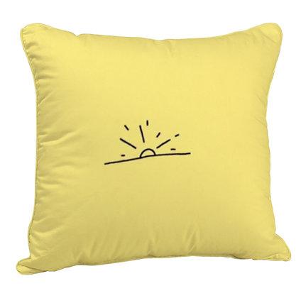 Rising Sun Printed Poly Satin Cushion Pillow with Filler