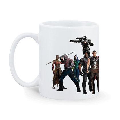Avengers Team Printed Ceramic Coffee Mug 325 ml