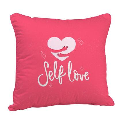 Self Love Satin Cushion Pillow with Filler
