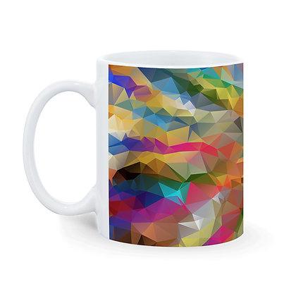 Colorful Crystal Theme Pattern Ceramic Coffee Mug 325 ml