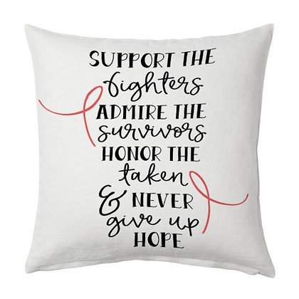 Support  Printed Poly Satin Cushion Pillow Cover with Fille