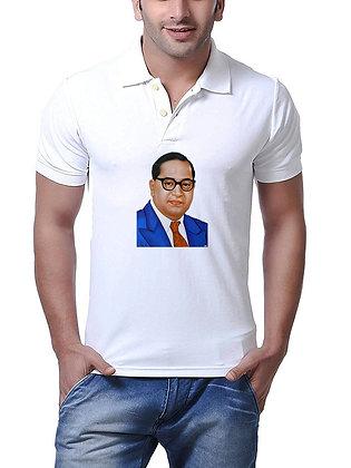Baba Saheb Dr. Bhim Rao Ambedkar Printed Regular Fit Polo Men's T-shirt