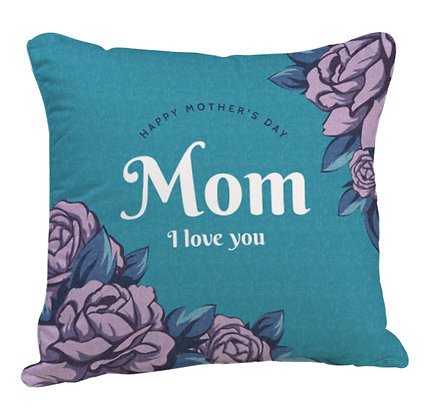 Mom I love u Satin Cushion Pillow Cover with Filler
