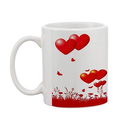 Couple Printed Ceramic Coffee Mug 325 ml