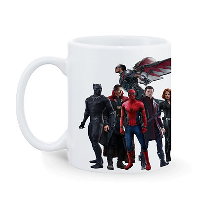 Avangers Printed Ceramic Coffee Mug 325 ml