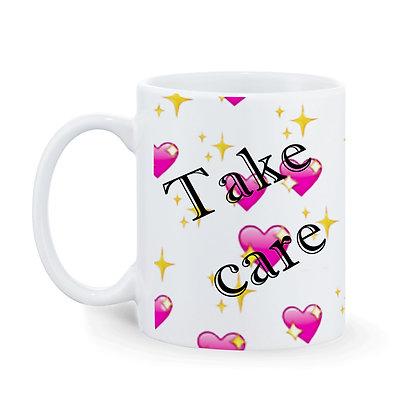Take CarePrinted Ceramic Coffee Mug 325 ml