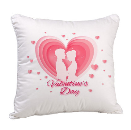 Valentine's Day Satin Cushion Pillow with Filler