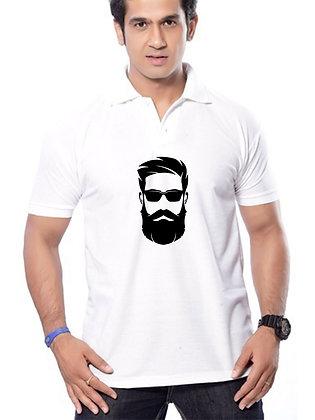 Cool Look Printed Regular Fit Polo Men's T-shirt