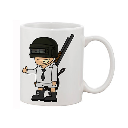 Cartoon Pubg Ceramic Coffee Mug 325 ml