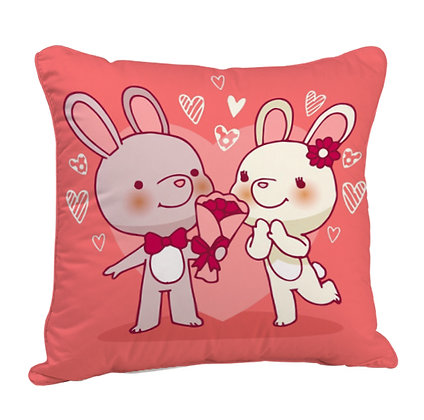 Couple Propose Satin Cushion Pillow with Filler