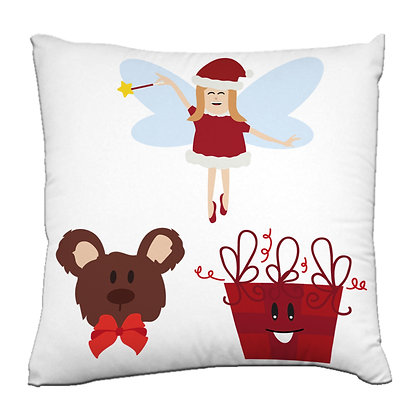Christmas gift Printed Poly Satin Cushions Pillow Cover with