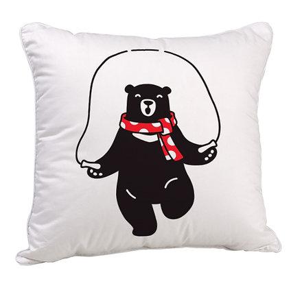 Zym Panda Satin Cushion Pillow with Filler