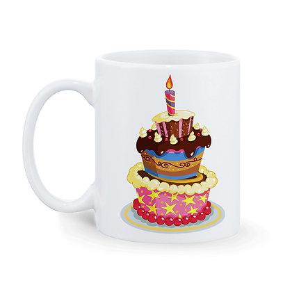 Happy Birthday to You Printed Ceramic Coffee Mug 325 ml