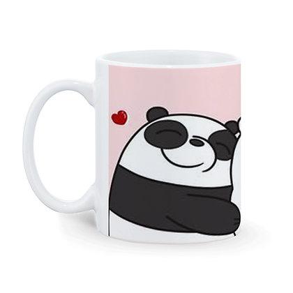Friends Panda Pattern Ceramic Coffee Mug 325 ml